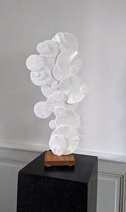 """Sculpture lumineuse en Cellulose, """" Japonisante """""""