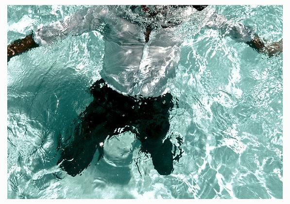 """Yannick Fournié, """" Blue Mood 4 """" / 160 X 123 CM"""