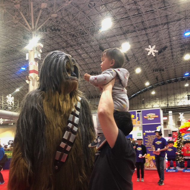 2019 Fair Chewbacca and dad with child o