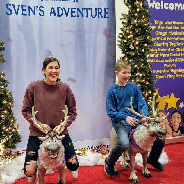 2019 Fair big kids on Sven in Frozen pho