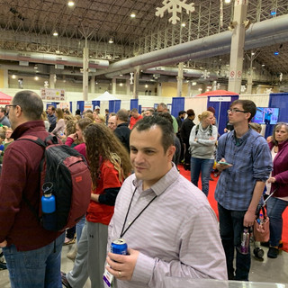 2019 Fair Steve Anne and crowd at YIC Aw