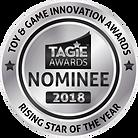 TAGIE Awards Nominee Seal - Rising Star