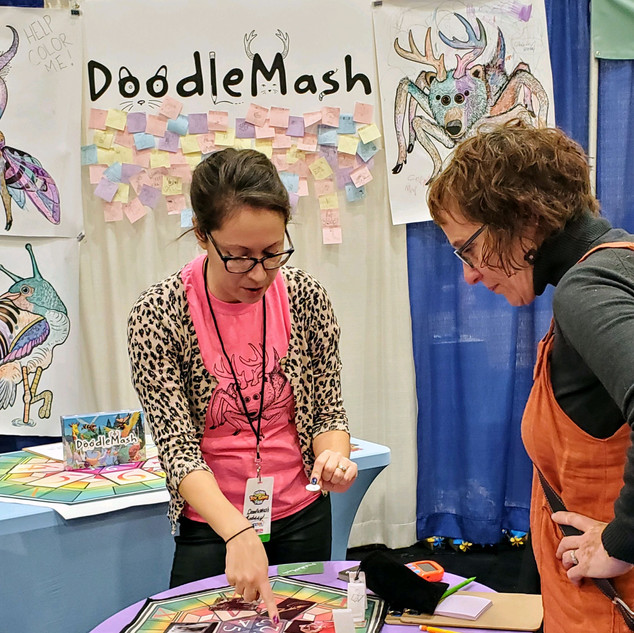 2019 Fair DoodleMash booth, pic by Debbi