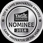 TAGIE Awards Nominee Seal - Game Innovat
