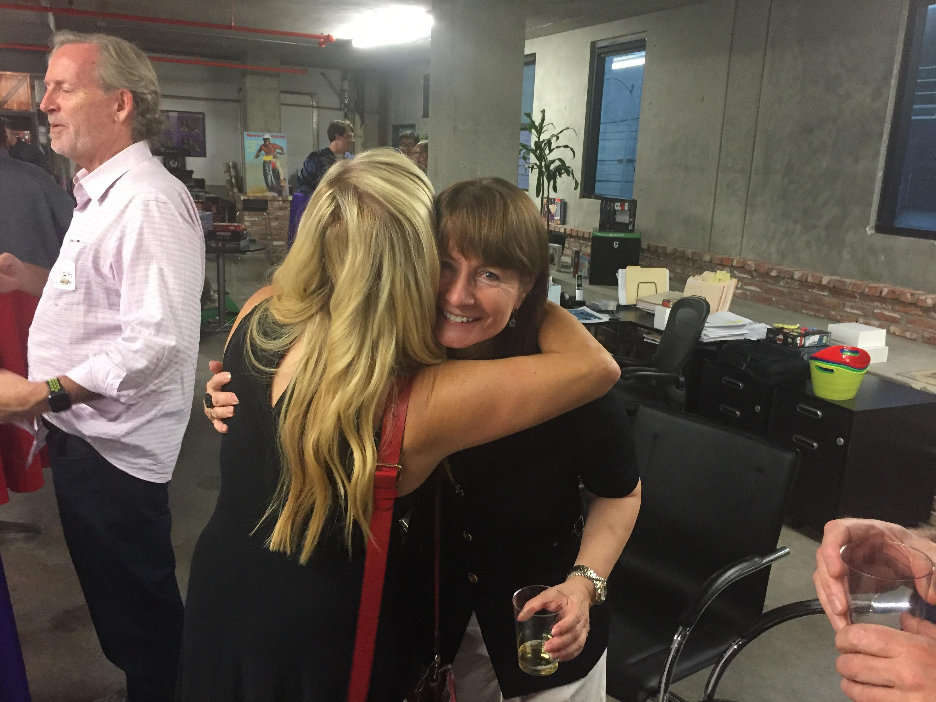 LA Sept 2019 event Kathleen hugging Mary