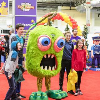 2019 Fair PlayMonster mascot at entrance