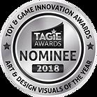 TAGIE Awards Nominee Seal  - Art & Desig