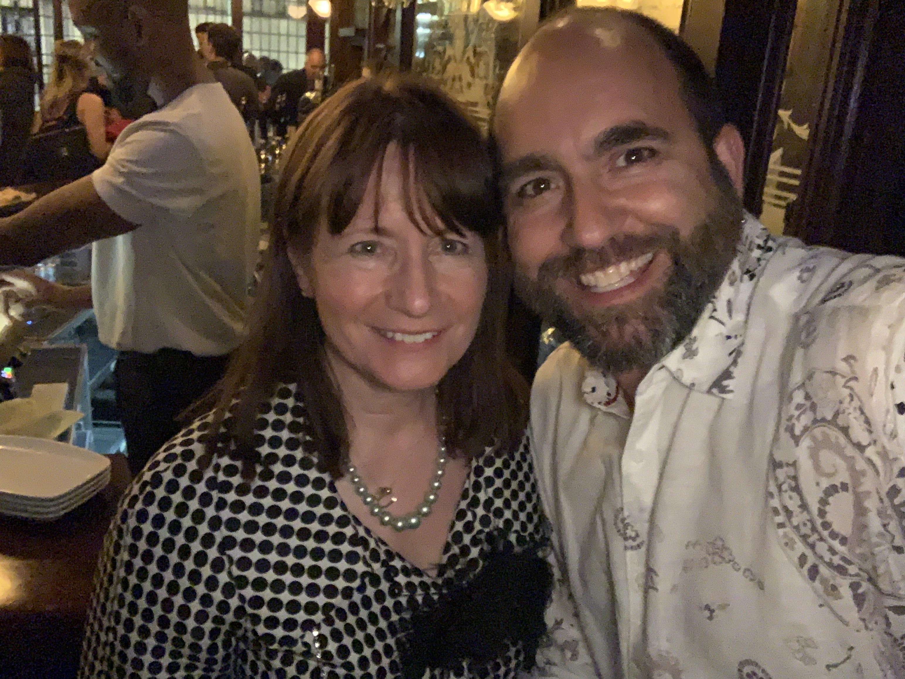 Tony Serebriany and Mary at DISTOY pub e