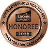 TAGIE Awards Honoree Seal - Inventor Adv