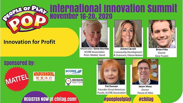 Innovation for Profit CHITAG POP Int'l I