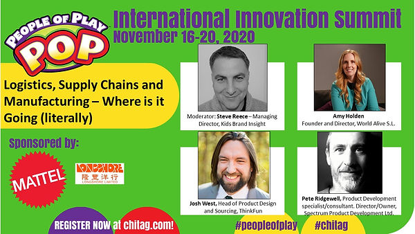 Logistics, Supply Chains and Manufacturing – Where is it Going (literally) CHITAG POP Int'