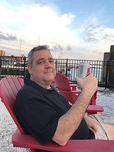 Alan Roach on deck of his favorite resta