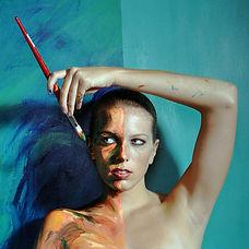Double Take - Alexa Meade Self Portrait
