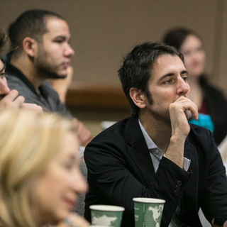 2019 Conference Ivan Coronas seated in a