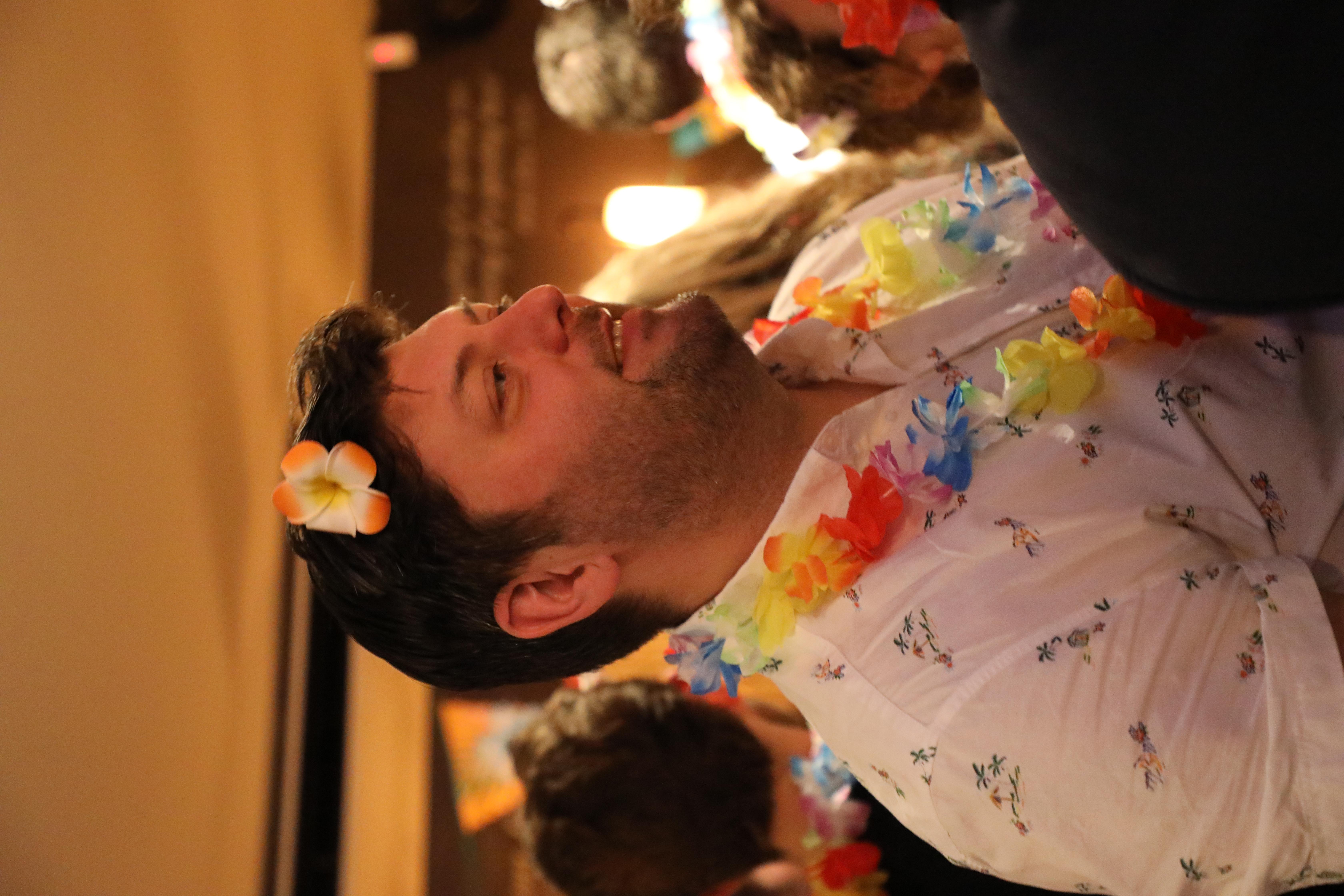 Distoy London 2018 Gary Pyper flower in hair