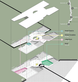 Schematic Axon of Cycling Plaza