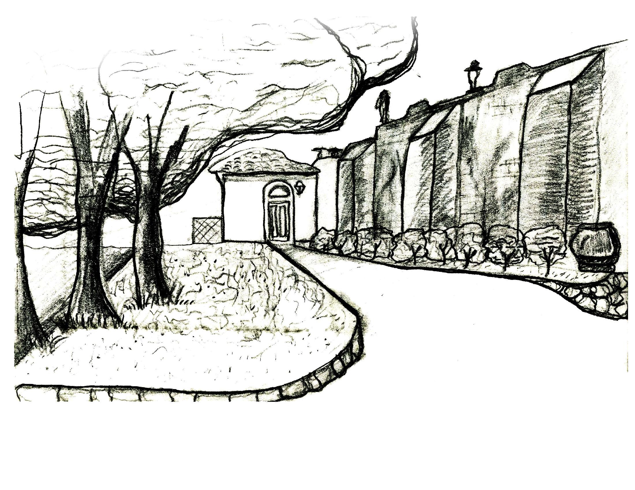 Study Abroad Exterior Sketch