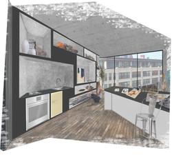 Artist Residence Shelving Perspective