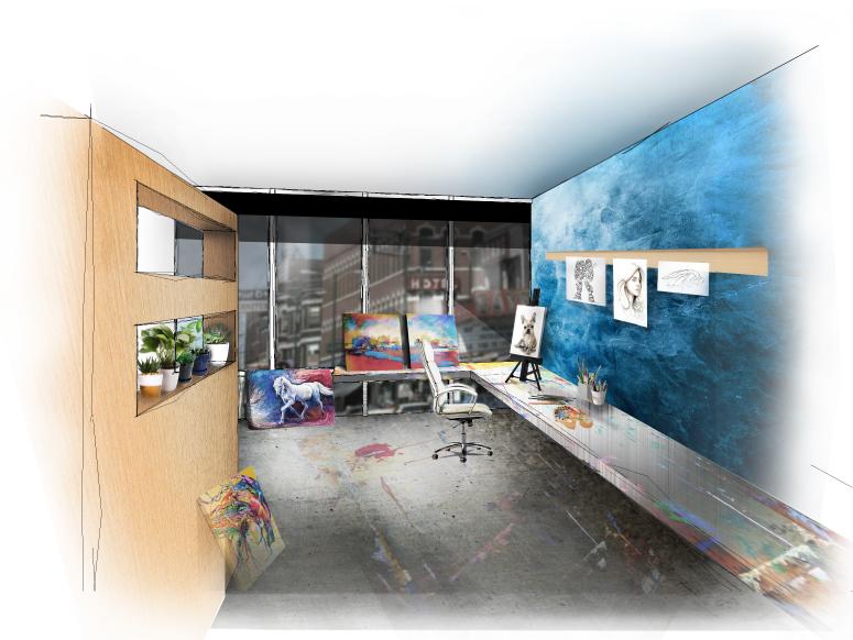 Artist in Residence Work Station