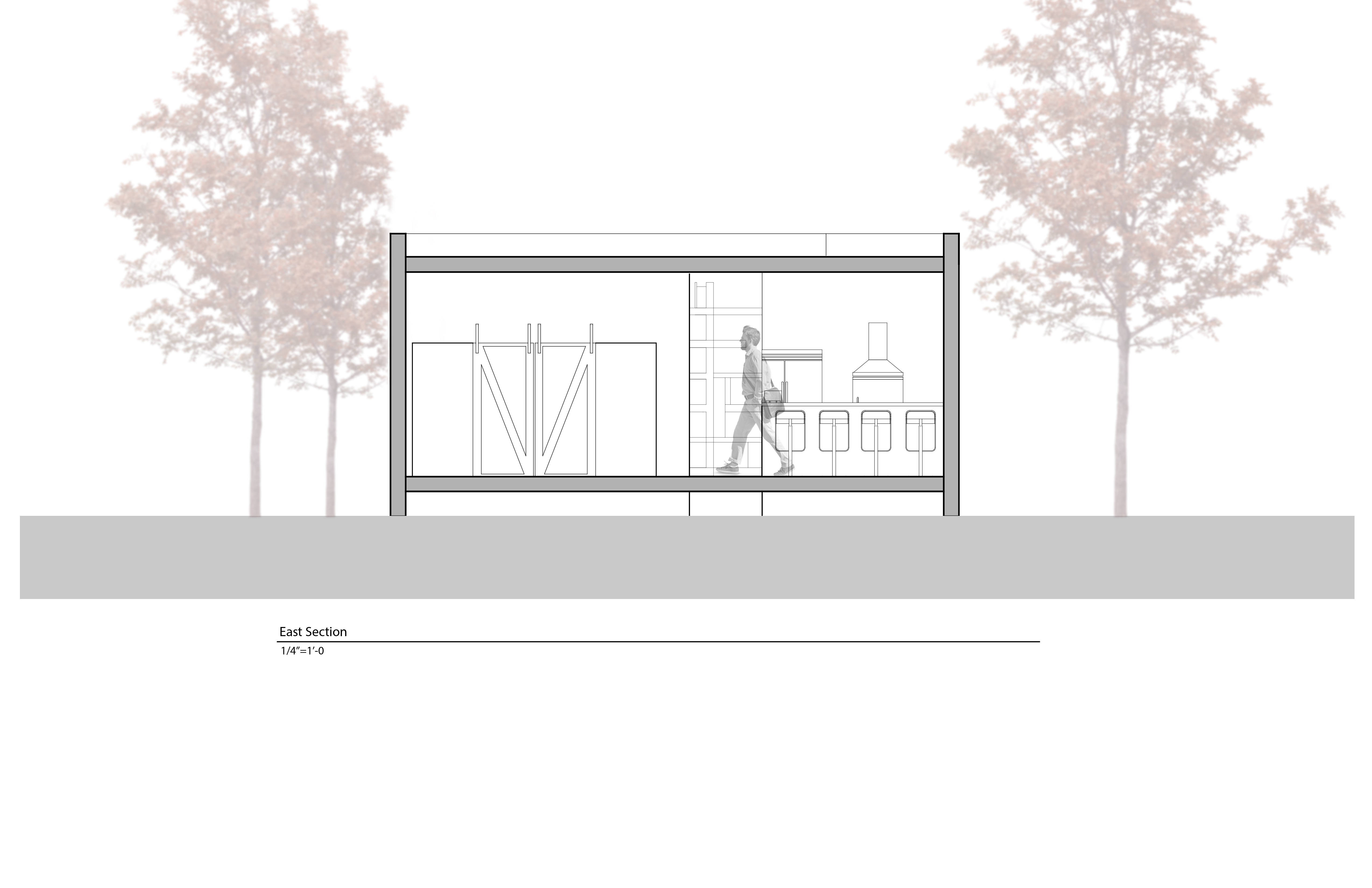 Section of Off Grid Housing Project