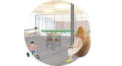 Bike Hostel Indoor Outdoor Space