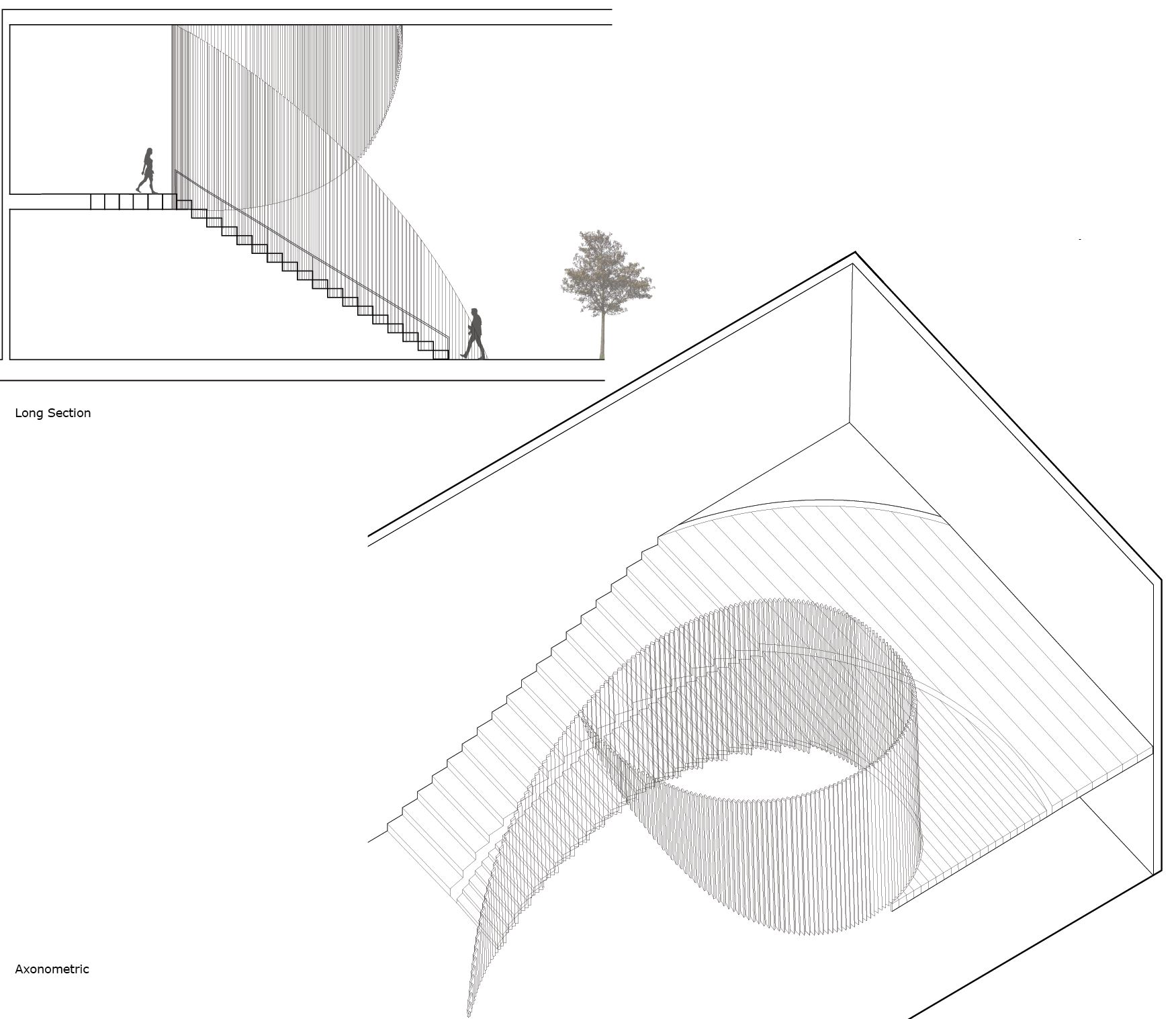 Staircase Section and Axonometric