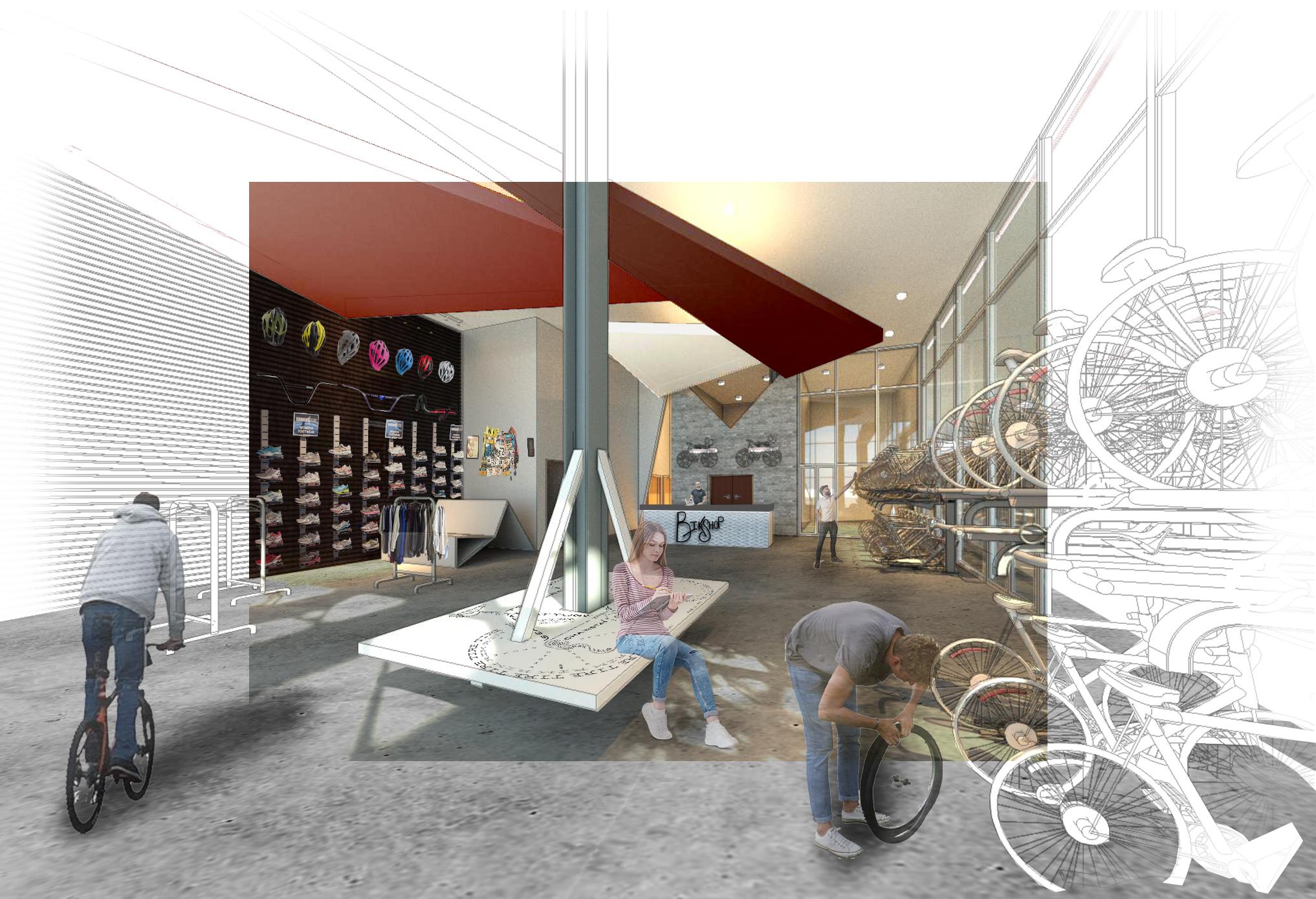 Bike Hostel Retail Space