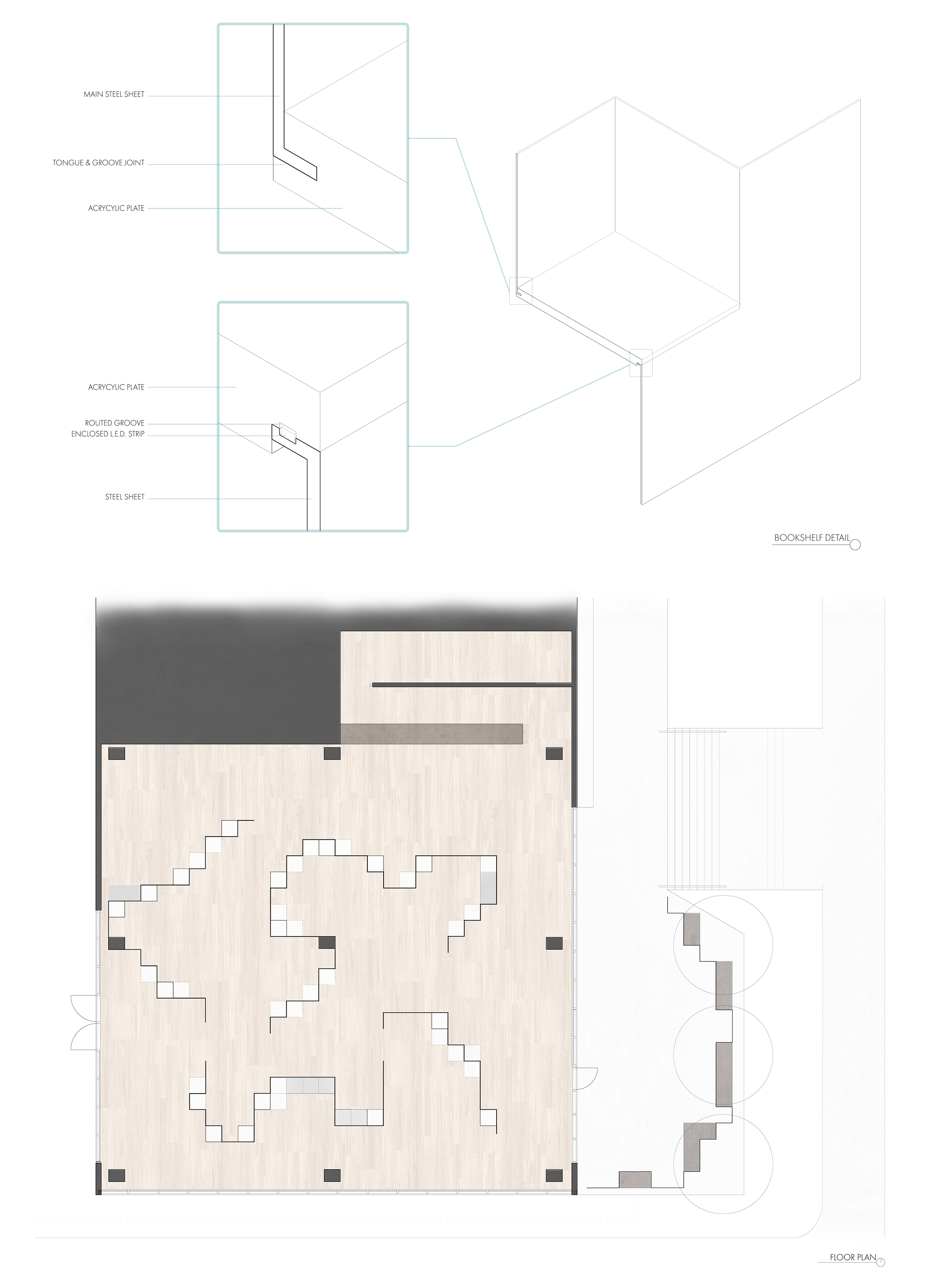 Bookstore Plan + Shelf Detail