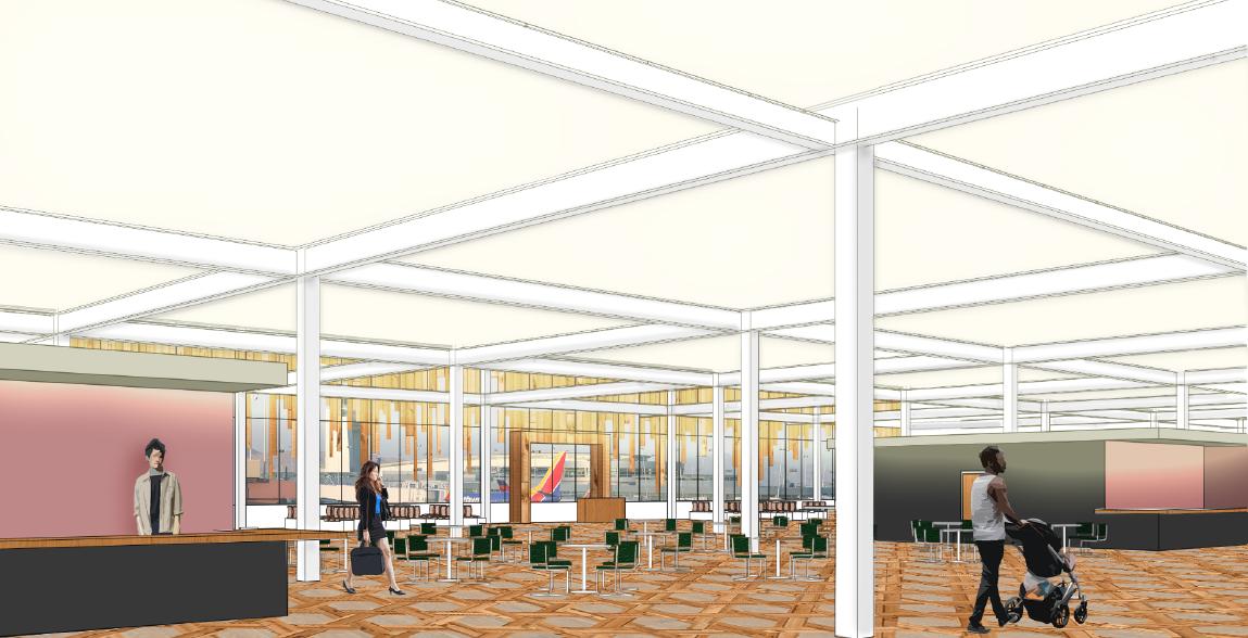 LAS Airport Terminal Food Court