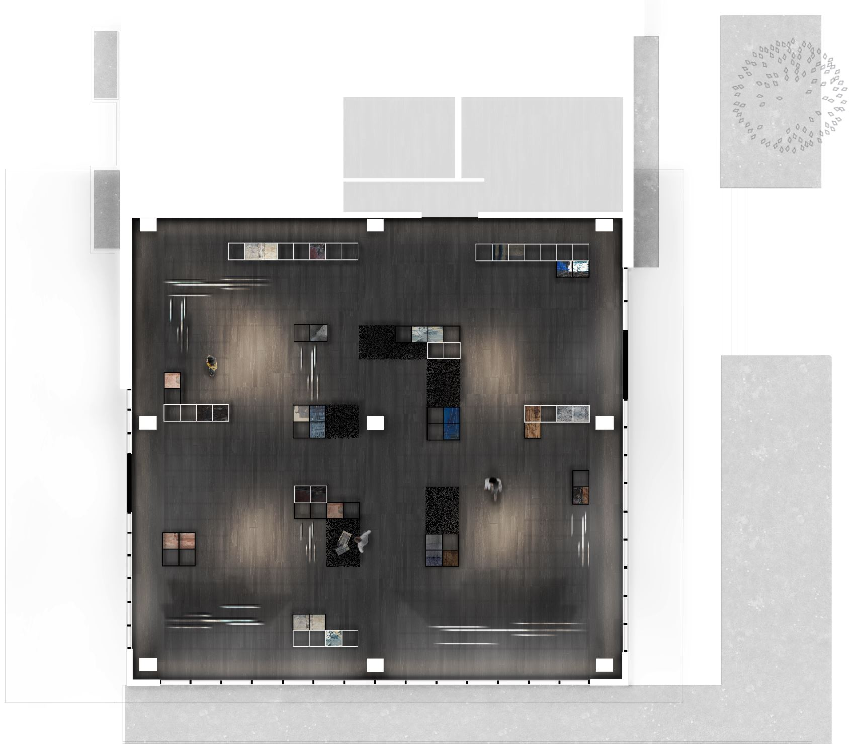 Pulp Showroom, Rendered Floor Plan