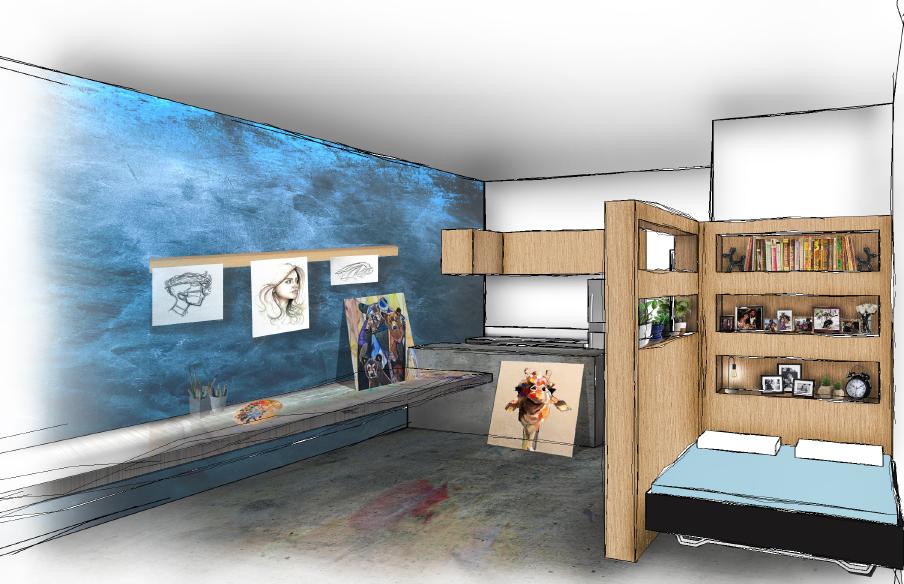 Artist in Residence Living Space