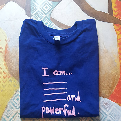 I am Powerful youth tee