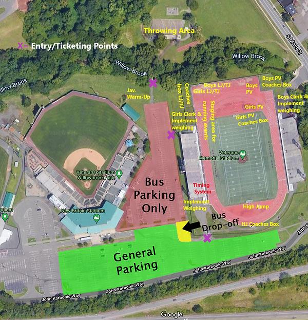 Vets Stadium CIAC Track Events and  Gene
