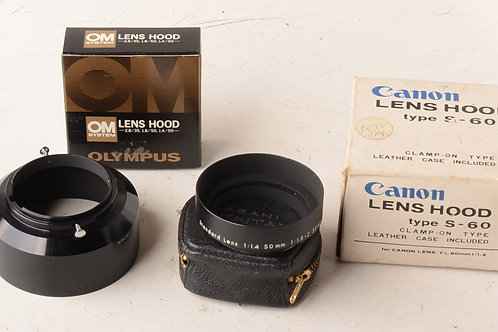 Various Old Lens Hoods