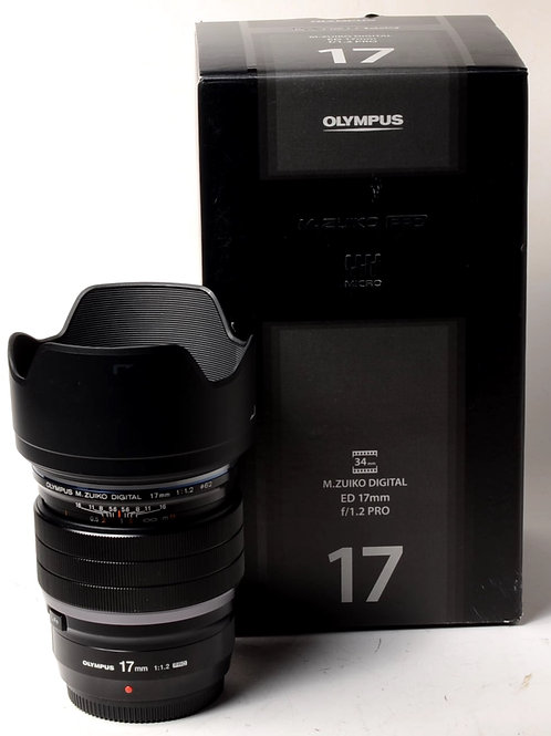 Olympus 17mm f1.2 ED Pro