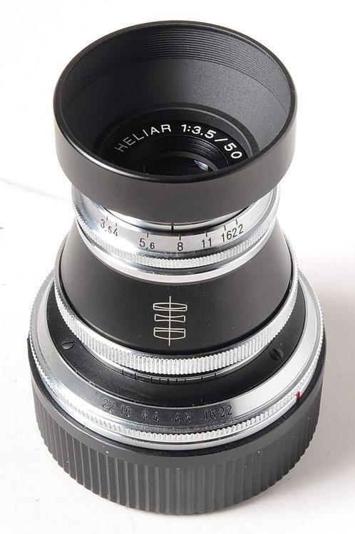 Voigtlander 50mm f3.5 Heliar Vinatge Line