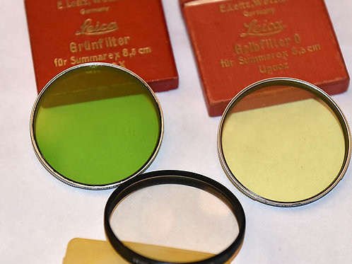 Leica E58mm filters for Summarex,  early Noctilux etc