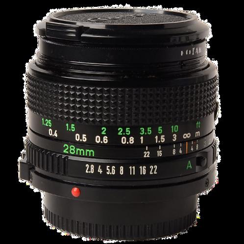 Canon 28mm F2.8 FD