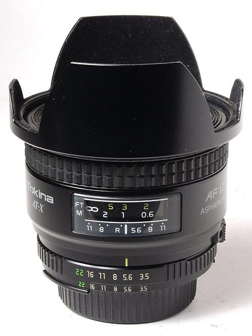 Tokina 17mm f3.5 for Nikon Mount