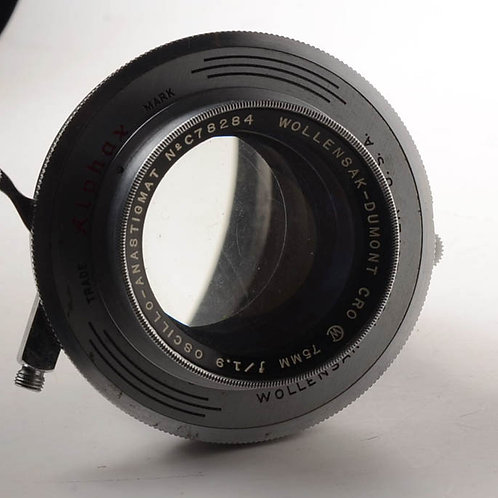 Wollensak 75mm f1.9 lens adapter to Leica LTM