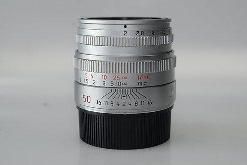 Leica 50/2 M lens SILVER