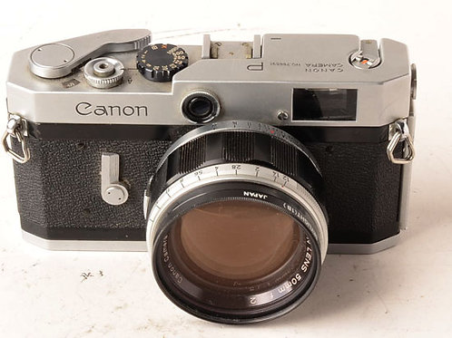 Canon P rangefinder with 50mm f1.2 LTM lens