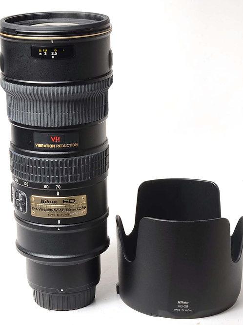 Nikon 70-200 f2.8 AF-S VR
