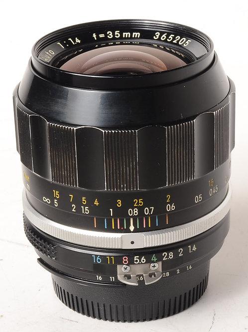Nikon 35mm f1.4 Ai