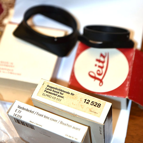 Leica lens hoods and caps - NOS out of production items