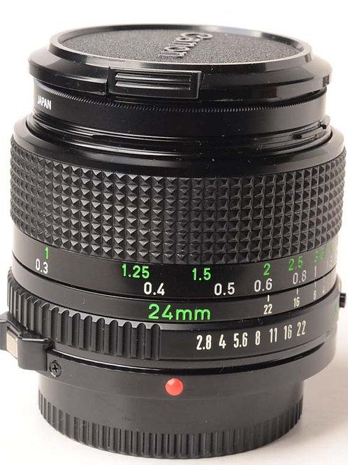 Canon 24mm F2.8 FD