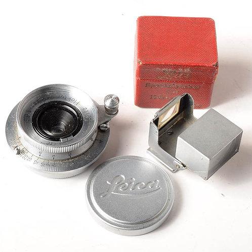 Leica 2.8cm f6.3 Hektor lens & SUOOQ folding viewfinder