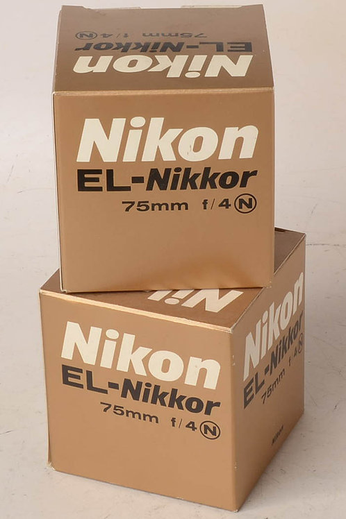 75mm Nikon EL-Nikkor enlarging lens for 6X6cm NEW