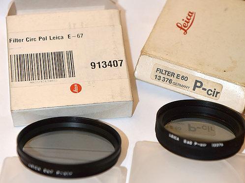 Leica E60 and E67 circ-Pola filters