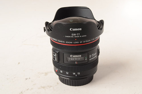 Canon 8-15mm f4 L Fisheye Zoom